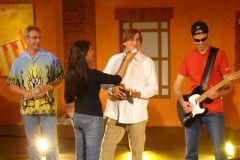 2008 Schminken vor TV-Aufzeichnung in Berlin