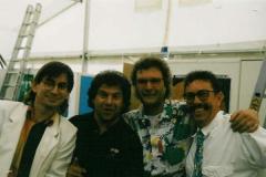 Mit Andy Borg bei einem Radio-Gig